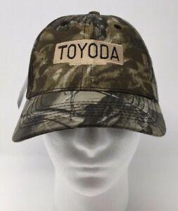 Toyoda-Toyota-Baseball-Cap-Hat-Camouflage-SUV-Truck-OSFM-Strapback-Hat-NWT