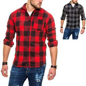 Jack-amp-Jones-caballero-camisa-manga-larga-Folies-camisa-camisa-con-patrones-de-cuadros-sale