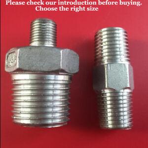 Bsp Male Stainless Steel 316 Reducing Hexagon Nipples,Reducing Adapters BSPP