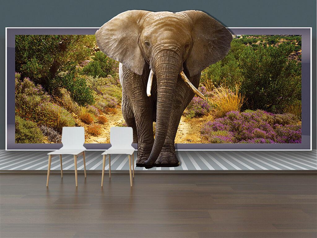 3D Tropical Elephant 7 Wall Paper Murals Wall Print Wall Wallpaper Mural AU Kyra