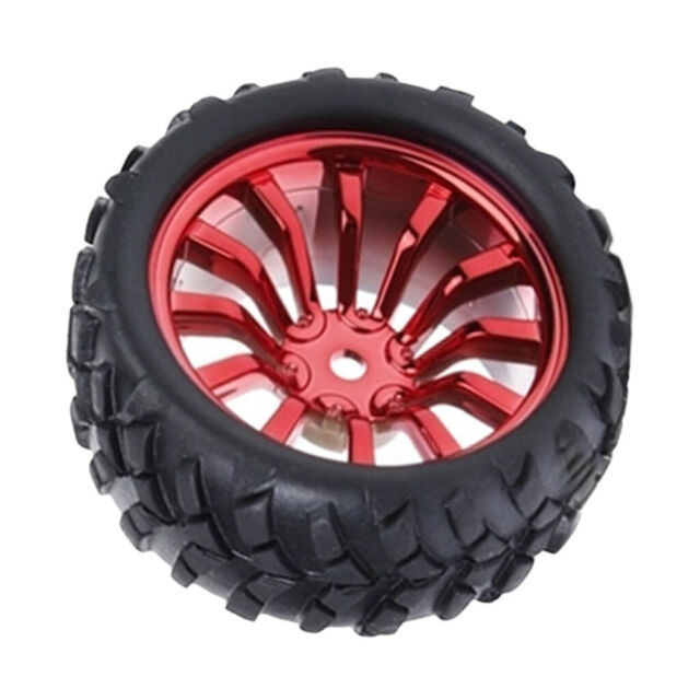 Red NEW 85mm Small Smart Car Model Robot Tire Wheel Replacement