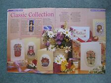 Classic Collection Mothers Day cards Cross stitch magazine chart only
