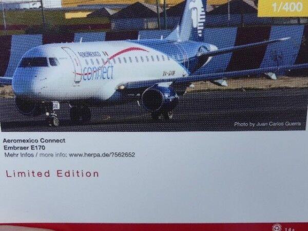 1 400 Herpa Aeroméxico Connect Embraer E170 - XA-GAM 562652  | Ausgezeichnet (in) Qualität