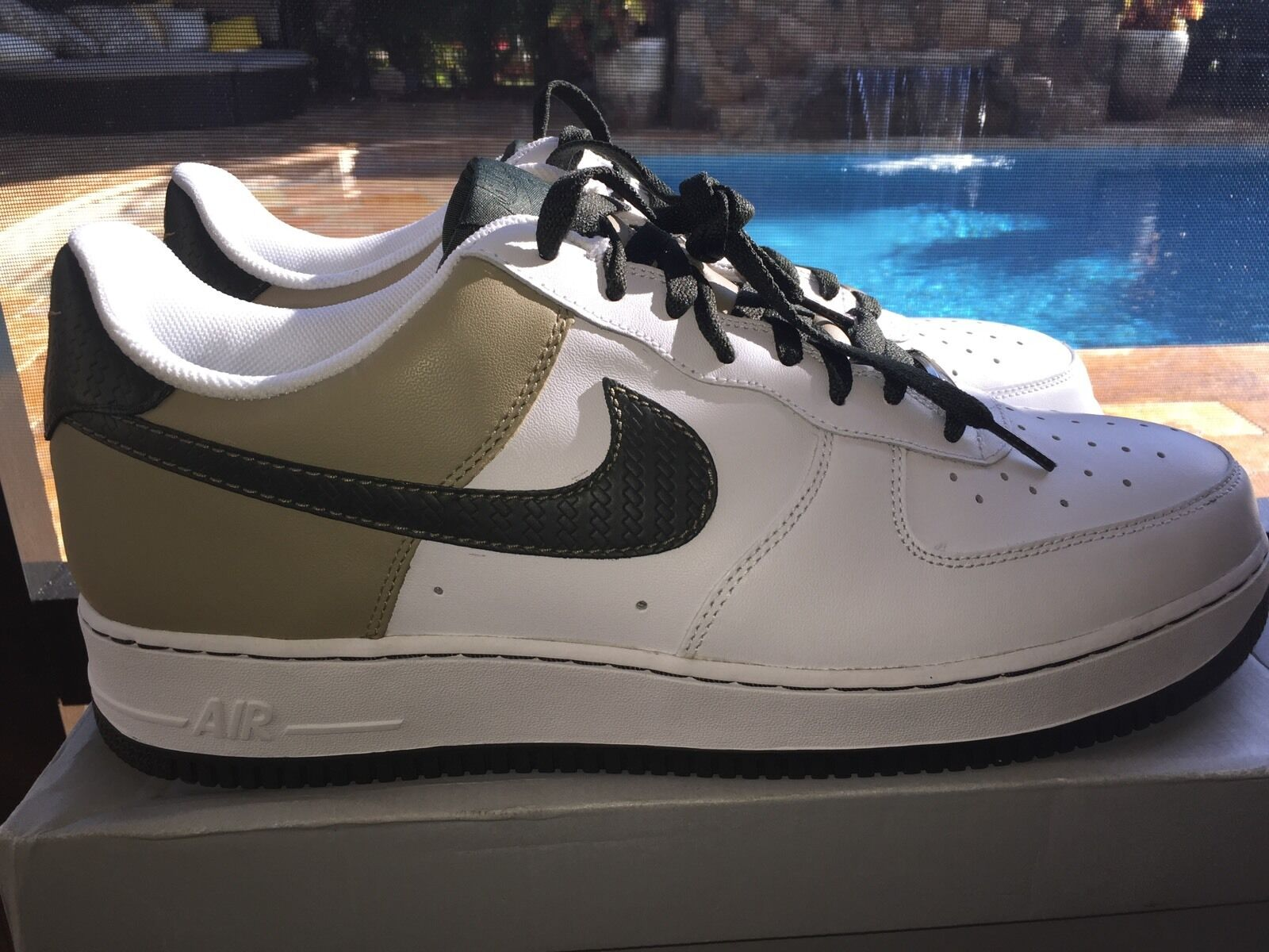 Nike Air Force 1 Low Whit/Green/Tan Ds Sz 14