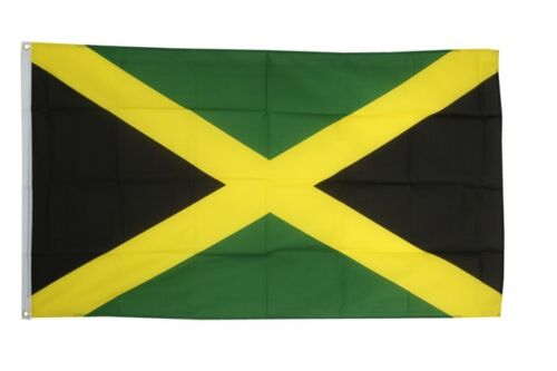 Jamaika Hissflagge jamaikanische Fahnen Flaggen 60x90cm