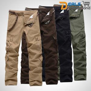 Men-039-s-Combat-Cotton-Cargo-Pants-Military-Camouflage-Camo-Trousers