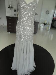 Maya Abiball Hochzeit Elegant Abendkleid Pailleitten Ebay