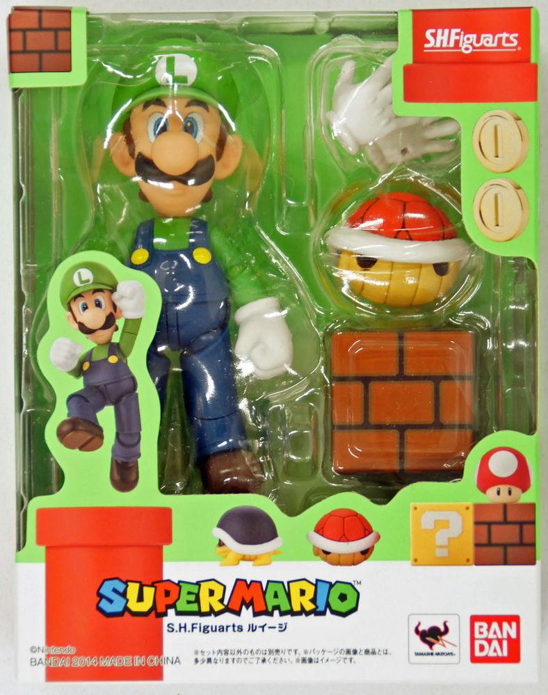 Bandai Tamashii Tamashii Tamashii Nations S.H. Figuarts Super Mario Luigi Action Figure USA Seller d1ea50