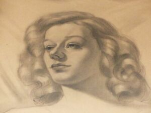 Mario-frascaroli-beautiful-woman-portrait-pencil-drawing-original-signed-1949-5