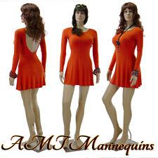 Female Plastic Sexy Mannequin W 2 Heads Full Body Realistic Manikin F222wigs