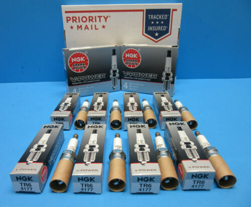 Set of 8 Genuine NGK 4177 Spark Plugs OEM# TR6 V-Power Made Japan V6 V8
