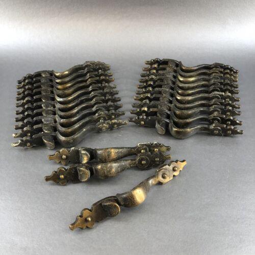 "4 Of 20 Vintage 6"" Brass Cabinet Door Drawer Handles Pulls Hardware Knobs MCM"