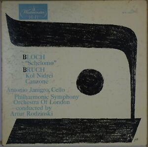 ANTONIO-JANIGRO-Bloch-Schelomo-Bruch-Kol-Nidrei-1955-WESTMINSTER-WN-18007-NM