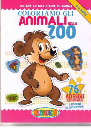 Coloriamo gli animali dello zoo - Per bimbi di 3-6 anni. con 76 adesivi