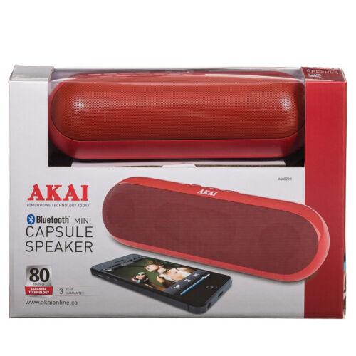 Altavoz portátil Bluetooth de Mini Cápsula Akai Rojo Spinner Inalámbrico Música Sonido +