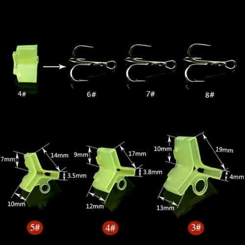 ES 10//50Pcs Durable Fishing Treble Hooks Jig Covers Case Bonnets Caps*Protector