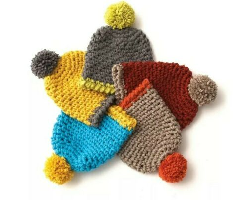 CROCHET PATTERN FOR CHILDREN/'S HAT  4-6 /& 8-12 YRS