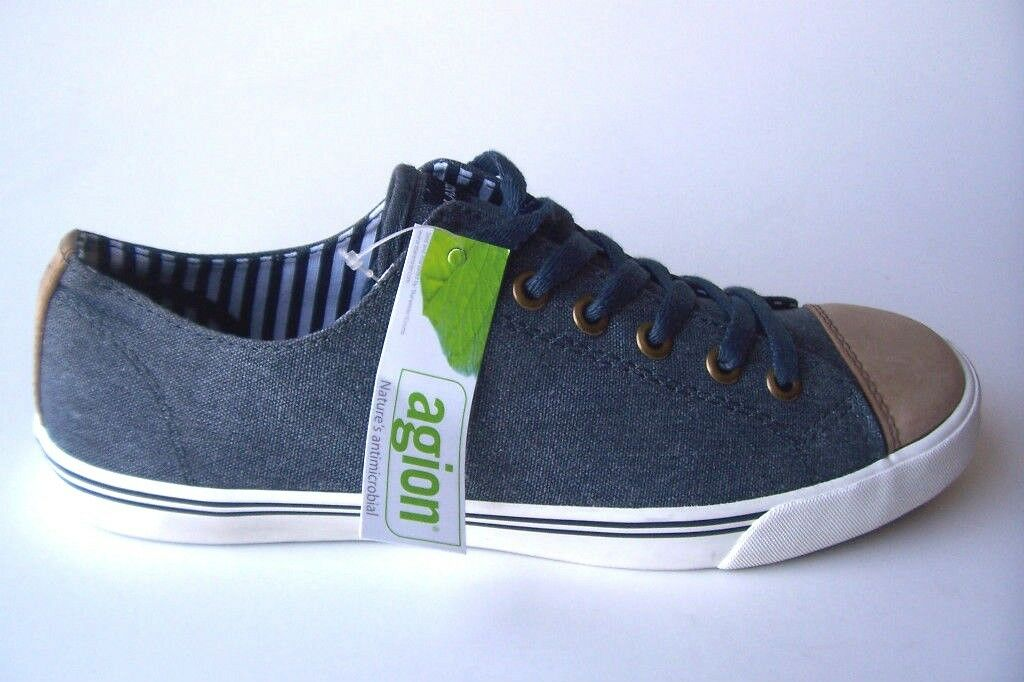 LAND'S END MENS CANVAS LOW SNEAKERS blueE COLOR SPORT SHOES SIZE 9.5 M