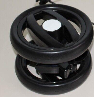 Peg Perego Doppel Vorder Rad schwarz weiß für Pliko P3 Compact und Switch schwar