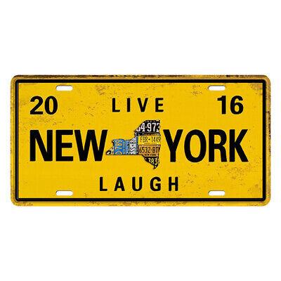 Vintage Metal Tin Sign Prints Poster Wall Art Plaque Decor Live New York