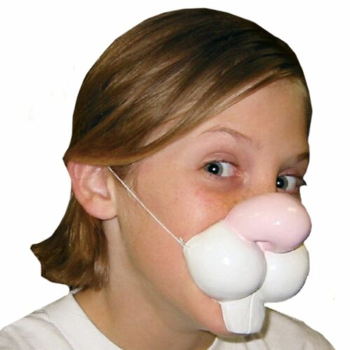 Cute Creatures Rabbit Nose Bunny Kids Adults Easter Halloween Costume Accessory