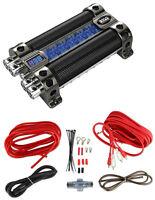 Boss Cap18 18 Farad Digital Capacitor Cap Audio+8 Ga Car Amplifier Wiring Kit