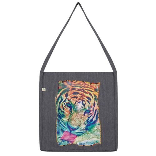 Twisted Envy Psychedelic Tiger Tote Bag
