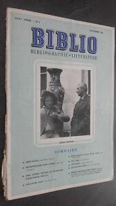 Rivista Biblio Jeans Cayrol Novembre 1963 N°9 ABE