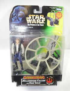 STAR WARS Han Solo Actionfigur + GUNNER STATION KENNER Neu (LR5)