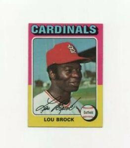1975 Topps Lou Brock Baseball Card #540 - St Louis Cardinals HOF