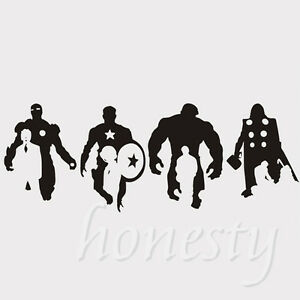 Iron Man Hulk Thor Captain America Car Sticker Window