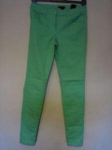 d4b6d77e RR20) WOMENS H&M SKINNY STRAIGHT LEG GREEN JEANS ZIP FLY WAIST 24 ...