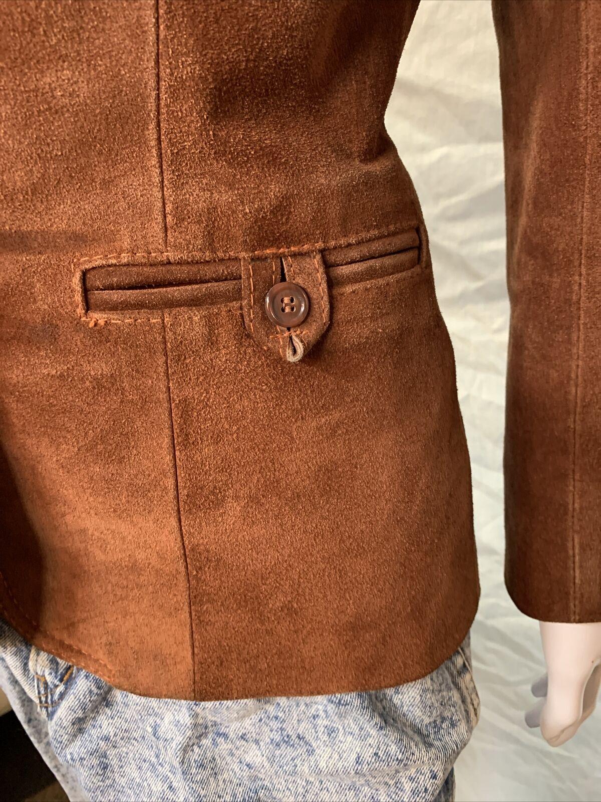 Vintage 1970s Casual Corner Leather Suede Brown J… - image 4