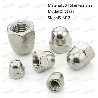 Dome Cap Hex Nut  #10 x 24 Nuts 10x24  10//24 10-24 Stainless Acorn 1000