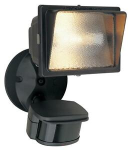 Distressed Bronze Exterior Motion Detector Flood Light