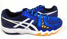 ASICS Men's GEL-Blade 5 Indoor Court Shoe Electric Blue/White/Navy Size 10.5