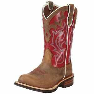 Ariat Western Boots Womens Unbridled Leather Cowboy Powder