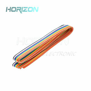 10 way 10p flat color rainbow ribbon cable wiring spacing pitch 1 27