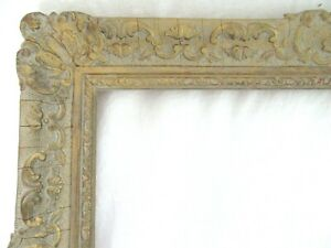 VINTAGE-FITS-11-X14-034-GOLD-PICTURE-FRAME-WOOD-GESSO-ORNATE-FINE-ART-COUNTRY