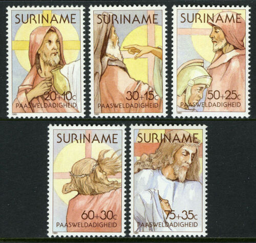 Surinam B279-B283, MNH. Easter. Scenes from the Passion of Christ, 1981