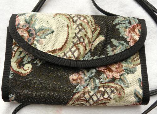 Purse Clutch Wallet Handmade Brocade Fabric long strap Varied patterns