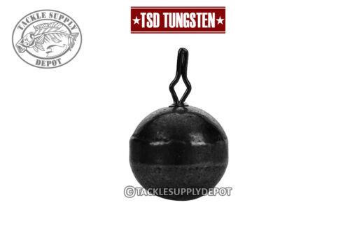 Pick TSD Tungsten Round Drop Shot Weight Pinch It Quick Clip Black
