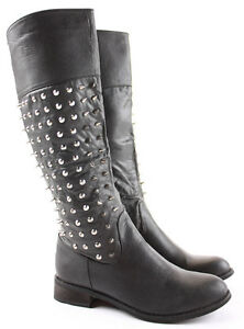 Womens-Winter-Riding-Low-Flat-Heel-Calf-Leg-Knee-Walking-Boots-Size