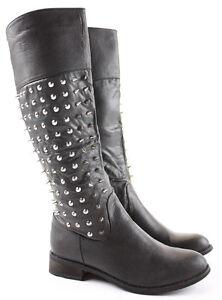 Womens-Winter-Riding-Low-Flat-Heel-Calf-Leg-Knee-Walking-Boots-Size