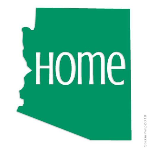 Size #3805 Arizona Home State Decal Sticker Choose Color