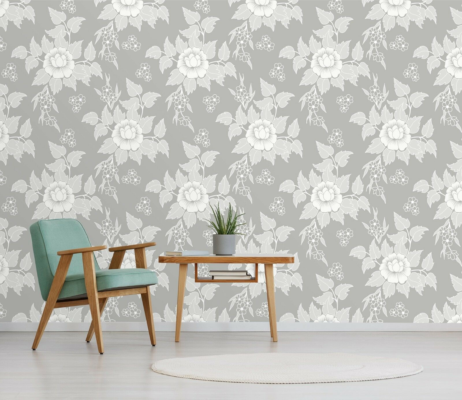 3D 3D 3D Flowers Weiß 113 Wallpaper Mural Print Wall Indoor Wallpaper Murals UK Lemon 622a5b
