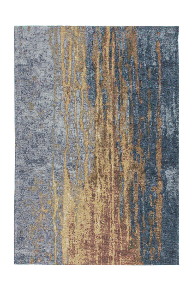 Arte Espina Tapis Moderne Aspect Use vintage loft bleu jaune Orange 195x290cm