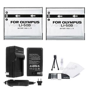 2X-LI-50B-Battery-Charger-BONUS-for-Olympus-SZ-31MR-SZ-20-SZ-16-SZ-15-SZ-10