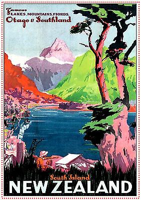 new zealand otago A3 vintage retro travel /& railways posters print #3