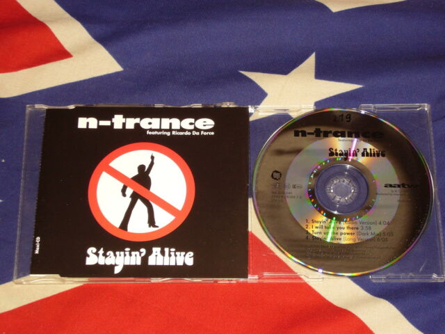 N-TRANCE featuring RICARDO DA FORCE - stayin' alive  4 trk MAXI CD 1995